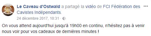 Facebook - Le caveau d'Ostwald