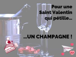 💟 J-7 avant la Saint Valentin !  Pour être sur(e) de passer une soirée en amoureux qui pétille, n'oubliez surtout pas de ramener cet inoubliable... 🍾