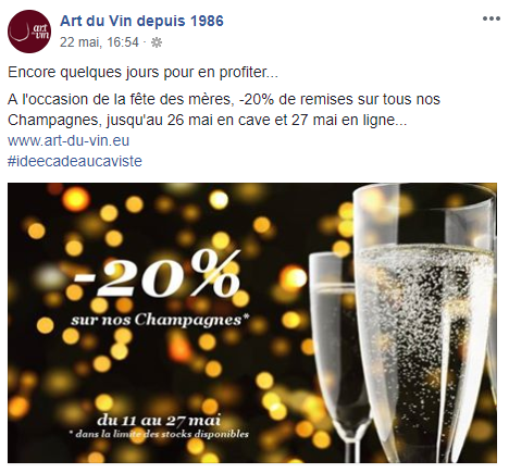 Chez Art du Vin depuis 1986, on ne rigole pas avec la fête des Mères ! Profitez vite de cette superbe offre ! 😉