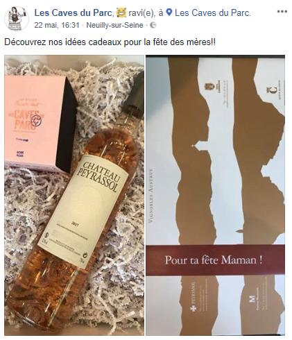 Vous aussi, comme Christelle Taret, Les Caves du Parc, partagez vos #ideecadeaucaviste pour la fête des Mères ! 😍