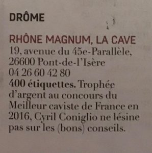 Coup de coeur caviste RVF -  Rhone Magnum