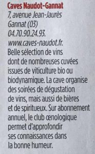 Le point Special Vin - Naudot