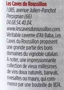 Le point Special Vin - Roussillon