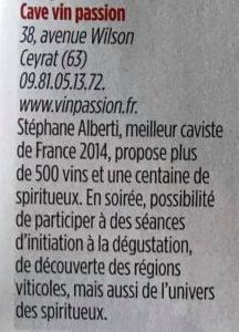 Le point Special Vin - Vin passion