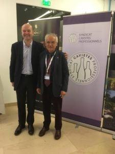 Le président du SCP Yves Legrand avec le président de la FCI Jean Guizard