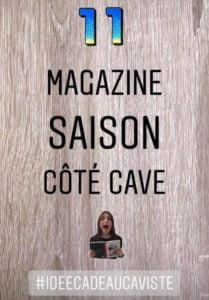Nous vous proposons aujourd'hui une idée cadeau originale et gratuite : le Saison Côté Cave ! Un magazine qualitatif avec des articles culturels sur le monde du vin, des spiritueux et le métier de caviste 📖  Il s'adresse à tous : amateurs comme connaisseurs ! 👥 Récuperez le rapidement chez vos Cavistes Indépendants FCI qui seront heureux de vous l'offrir gratuitement ❣